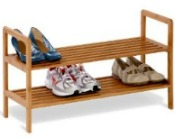 Bamboo Garage Shoe Storage Rack