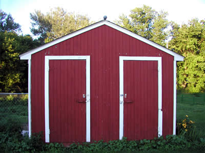 Exceptionnel Double Door Wooden Storage Shed