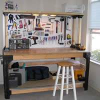 Peachy The Garage Workbench Tips For Buying Building And Organizing Creativecarmelina Interior Chair Design Creativecarmelinacom